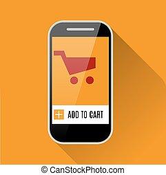 online kaufen, mit, smartphone