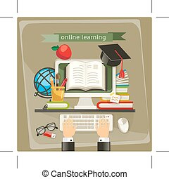 Online learning illustration - Online learning, illustration