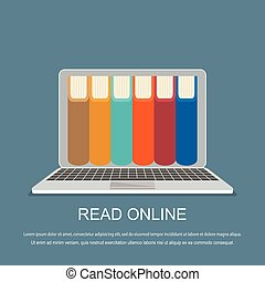 online library concept. Vector illustration.
