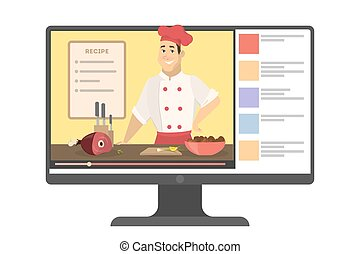 Online male chef.