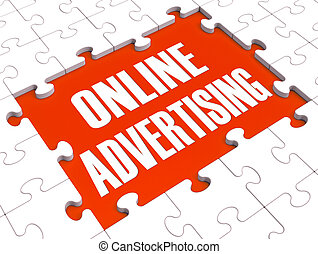 Online Marketing Puzzle Showing Websites' Advertisements