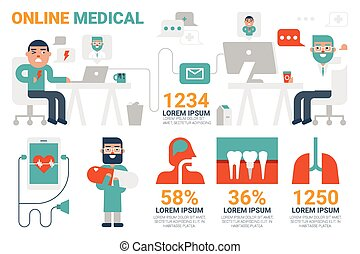 Online Medical Infographic Elements