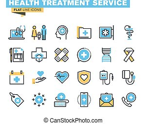 Online medical support icons