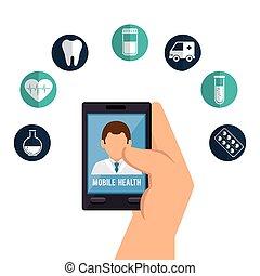 online- medizinisch, design