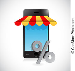 online mobile shopping store percentage symbol