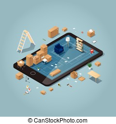 Online moving planning illustration