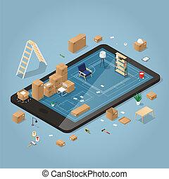 Online Moving Planning Illustration