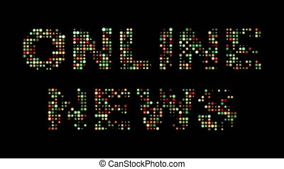 Online news colorful led sign