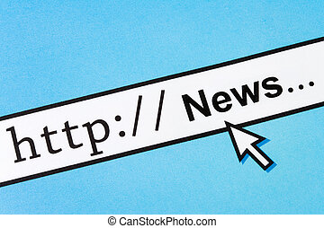 Online News - Computer Screen, concept of online news