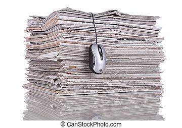 Online news - Electronic news in the internet (isolated on ...