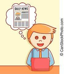 Online news  illustration design