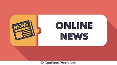 Online News on Scarlet in Flat Design.
