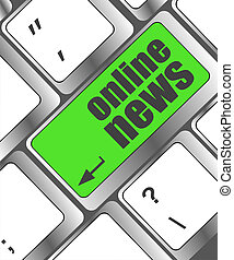 online news word on computer keyboard button