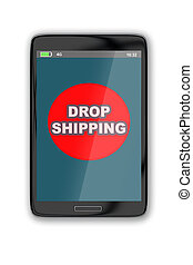 Online order via drop shipping concept