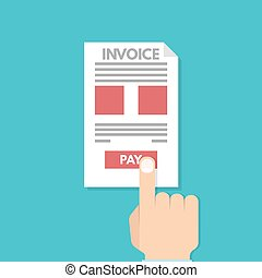 Online Paying taxes, payment, invoice. Financial accounting. Vector illustration
