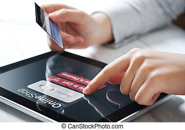 Online payment concept