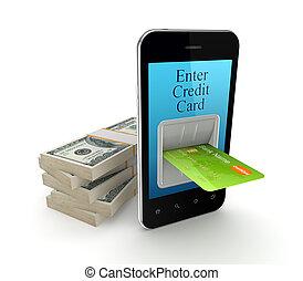 Online payment concept.