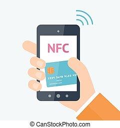 Online payment concept - Mobile payment processing concept....
