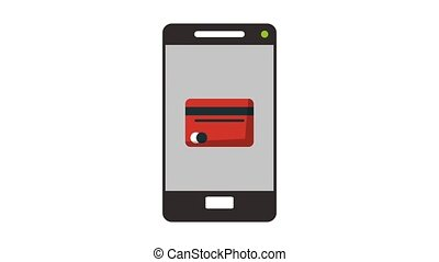 Online payment from smartphone HD animation