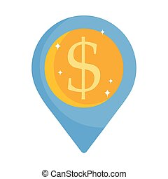 online payment, money navigation location pin, ecommerce market shopping, mobile app