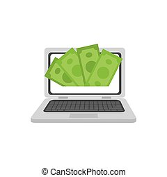 Online payment system icon vector illustration graphic...