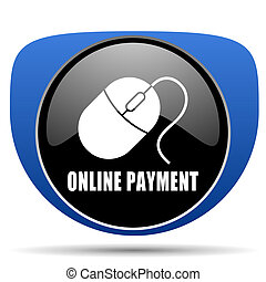 Online payment web icon