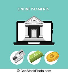 online payments design, vector illustration eps10 graphic