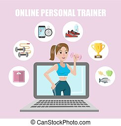 Online personal trainer.