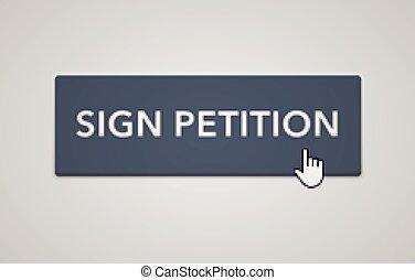 Online petition button
