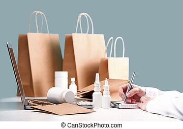 Online pharmacy order and medications delivery. Pharmasist
