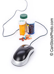 online pharmacy - Medicine and computer mouse, concept of...