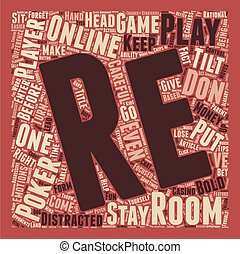 Online Poker Room Psych 101 text background wordcloud...