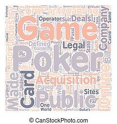 online poker3 text background wordcloud concept