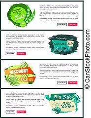 Online Posters Set Discount Off Summer Big Sale