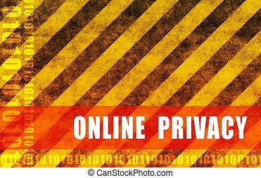 online, privacidade