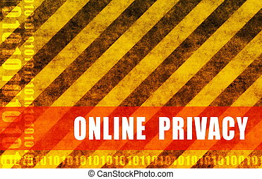 Online Privacy Warning Message as a Warning Background