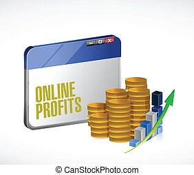 online profits concept illustration design