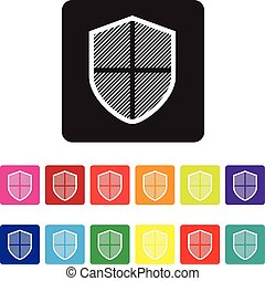 online, proteção, ícone