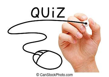 Online Quiz Concept - Hand sketching online Quiz concept...