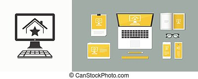 Online real estate - Favourite house - Vector flat icon