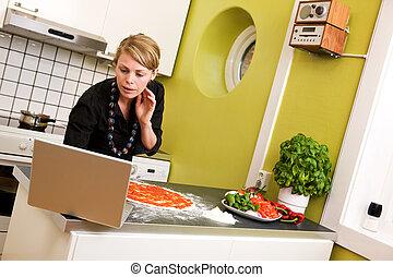 Online Recipe making Pizza