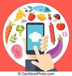 Online recipes concepts
