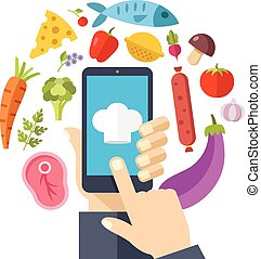 Online recipes. Cooking at home