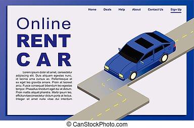 online , rental., αυτοκίνητο
