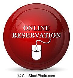 online, reservatie, pictogram