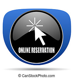 Online reservation web icon