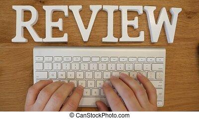Online review Concepts shot clip