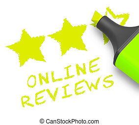Online Reviews Means Site Performance 3d Illustration