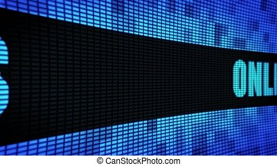 ONLINE REVIEWS Side Text Scrolling LED Wall Pannel Display...