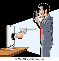 Online robbery